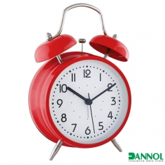 "4"" Metal Twin Bell Alarm Clock"