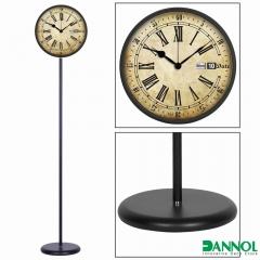 Iron floor standing clock