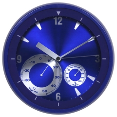 "12"" Plastic weather station wall clock"