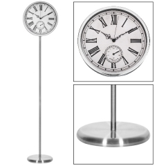 Iron standing wall clock
