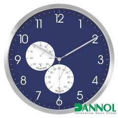 "12"" Aluminium weather station wall clock"